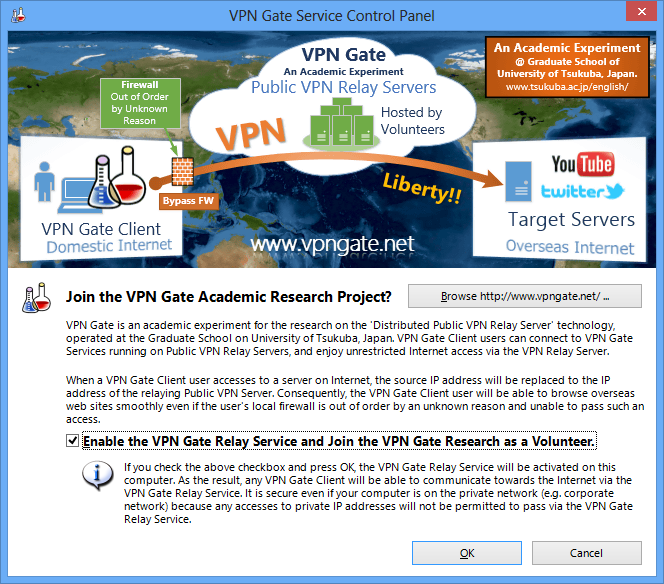 How to Enable or Disable the VPN Relay Function on VPN Gate